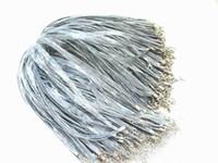 achat en gros de gris perle collier-100pcs gratuites d'expédition / lot Cord Chaîne Gris Soie Organza Ribbon Collier Strap 18