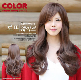 Wholesale New Arrival New Charming Long Wave Dark Brown Cosplay Hair Daily Fashipn Full Wig FW52