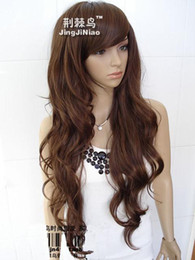 Wholesale New Arrival New Charming Hot Women s Long Wave Costumes Hair Fashion Full Wig FW222