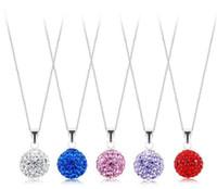 Women's beautiful silver jewellery - 2011 NESEST MM Ball Czech Crystal Pendant Sterling Silver Beautiful Jewellery