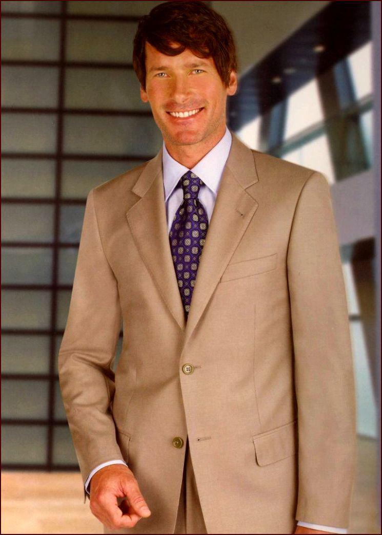 2017 Mens Clothing Tailor Made Suits Beige Men Suit Two Button ...