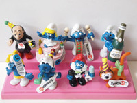 Wholesale Smurfs Action FIGURE Smurfette Sports FIGURES CM set