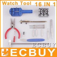 Wholesale 16 in Tool Kit Watchmaker Tools Watch Repair Pin Remover