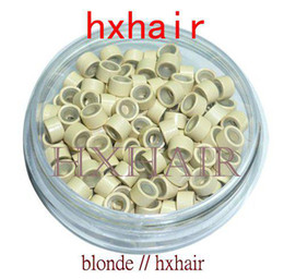1000pcs 5.0mm With Silicone Micro Aluminium Rings Beads   Black D-Brown Brown L-Brown D-Blond Blond