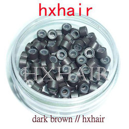 20000pcs 4.5mm With Silicone Aluminium Micro Ring Beads   Black D-Brown Brown L-Brown D-Blond Blond