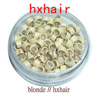 With silicone aluminium silicone - 5000pcs mm With Silicone Micro Aluminium Rings Beads Black D Brown Brown L Brown D Blond Blond