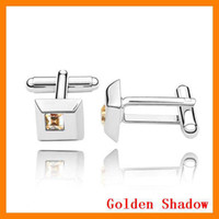 Wholesale 6 pair Jewelry fashion Crystal Unique Focus Cufflinks Colorful ZHPS79295