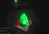 Wholesale led card light christmas tree SMD LED Pocket portable flash Led wallet blue and red color