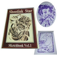 Wholesale popular design tattoo flash tattoo book RINTO classic skethches shootink star skechbook VO1
