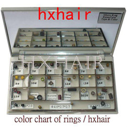 10pcs Color Chart of Rings   Micro Rings Links Beads   Pre-Bonded I-Tip Hair Extension Tools