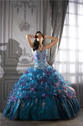 Wholesale In Stock Novel Style Ball Gown Beaded Organza Quinceanera Dress Evening Dresses Prom Dresses