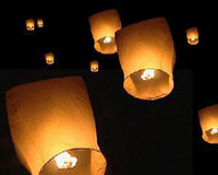 Wholesale Kongming light COLOURED SKY LANTERNS CHINESE Fay Balloon Christmas gift Wishing Lamp Sky Lanterns
