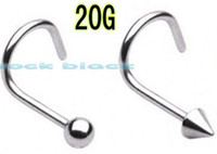 Wholesale styles spike and ball nose ring surgical steel body piercing jewelry