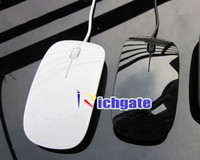 Wholesale APPLEE Optical Mighty Mouse for Laptop amp PC Magic Computer USB Mice White Black colours FREESHIP