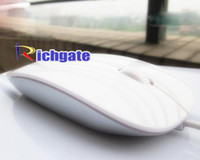 Wholesale USB Optical Mighty Mouse Laptop PC Glossy amp Sleek Magic Computer Macintosh Mice White Black Colour