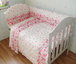 Wholesale Hot Selling Cotton Bedding Sets Set Bed pink flowers Bedding FREE GIFT