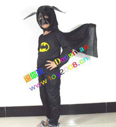 Wholesale Children s Batman Suit Boy Performance clothing Halloween Halloween Batman costumes Spider Man Suit