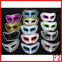 Wholesale 100pcs plastic halloween man costume mask masquerade fac facial eye masks party Venice