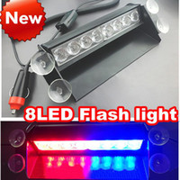 Wholesale High power LED led flashlight suction cup strobe lamp red and blue strobe light