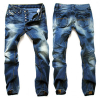 Wholesale Hot sell new arrive brand fashion cotton jean long straight blue men s jeans p201160