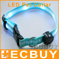 Wholesale led light collar Nylon Collar Waterproof Pet Dog LED Lights