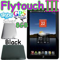 Wholesale 2pcs quot tablet pc GB Flytouch Android market GPS Camera X220 black christmas