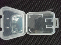 Wholesale Hot Sale Memory Card Case Protector Box For SD T Flash card Case Plastic Box Portective cases Good Quality pc