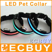 Red lock collar - led collar led light collars flashing pet collar lace collar dog collar neck collar lock collar