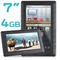 Wholesale 7 quot Touch Screen EBook Reader GB with media player Voice Recorder FM EB1706 Black