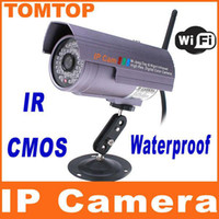 Wholesale Wireless Outdoor IP Camera Waterproof Nightvision m Network leds Supports cell phone visit S136