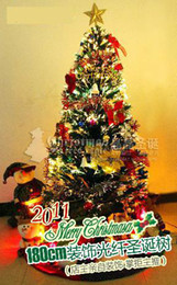 "6 FT Fiber Optic Christmas Tree Decoration Set 180cm 72"" with 60pcs Top Grade Decorations"
