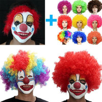 Wholesale Buffoon Clown Mask special curls Christmas carnival masquerade Costume party halloween masks mix