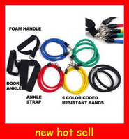 Wholesale hot Resistance Bands Latex Material Strong Metal Attachments Safe and Secure