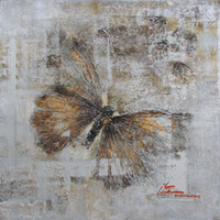 Cheap One Panel Butterfly Pictures Frames Best Oil Painting Abstract Butterfly