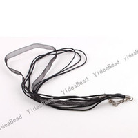 Wholesale 40pcs NEW Black Silk Ribbon Waxed Cords Clasp Necklace Handcraft Lover Christmas Gift cm
