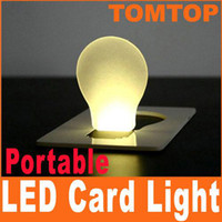 Wholesale Portable Wallet Card Pocket LED Card Night Light Lamp put in Purse Wallet H1129