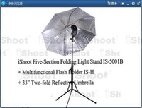 Wholesale iShoot Light Stand CM Flash Bracket Holder IS H inch two fold Reflective Umbrella