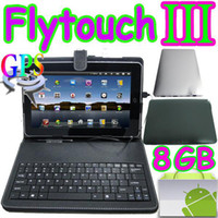 Wholesale 10 quot tablet pc GB Flytouch Android GPS wifi black X220 with leather keyboard case christmas