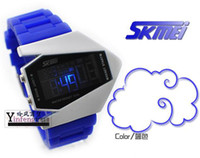 Wholesale SKMEI Multi functional waterproof LED Fighter planes electronic watches Man watch