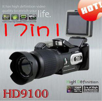 Wholesale sales HD9100T HD9100 P camera MP video camera Digital Camcorder DV long focus wide angle DC