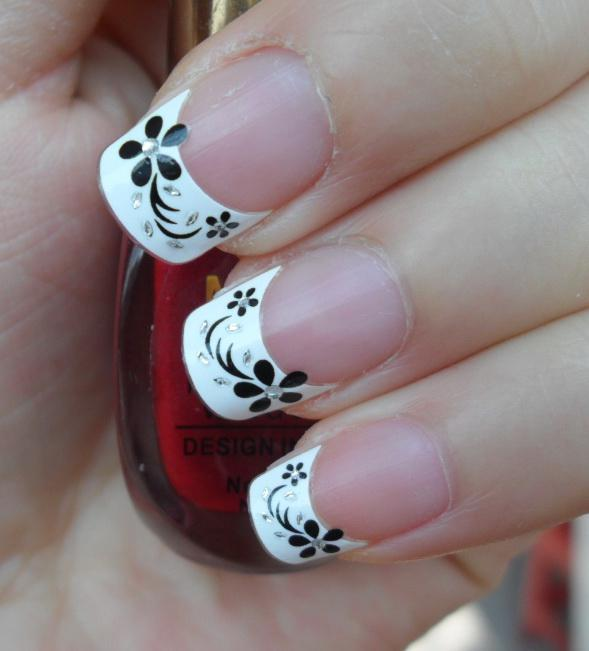 Nail Designs For Promotion : French nail art sticker d for christmas
