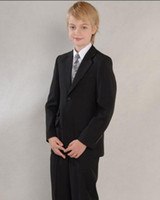 Wholesale Tailor Made Boy Black button Suit Piece As Wedding Attire From Yzs168 Dress Factory