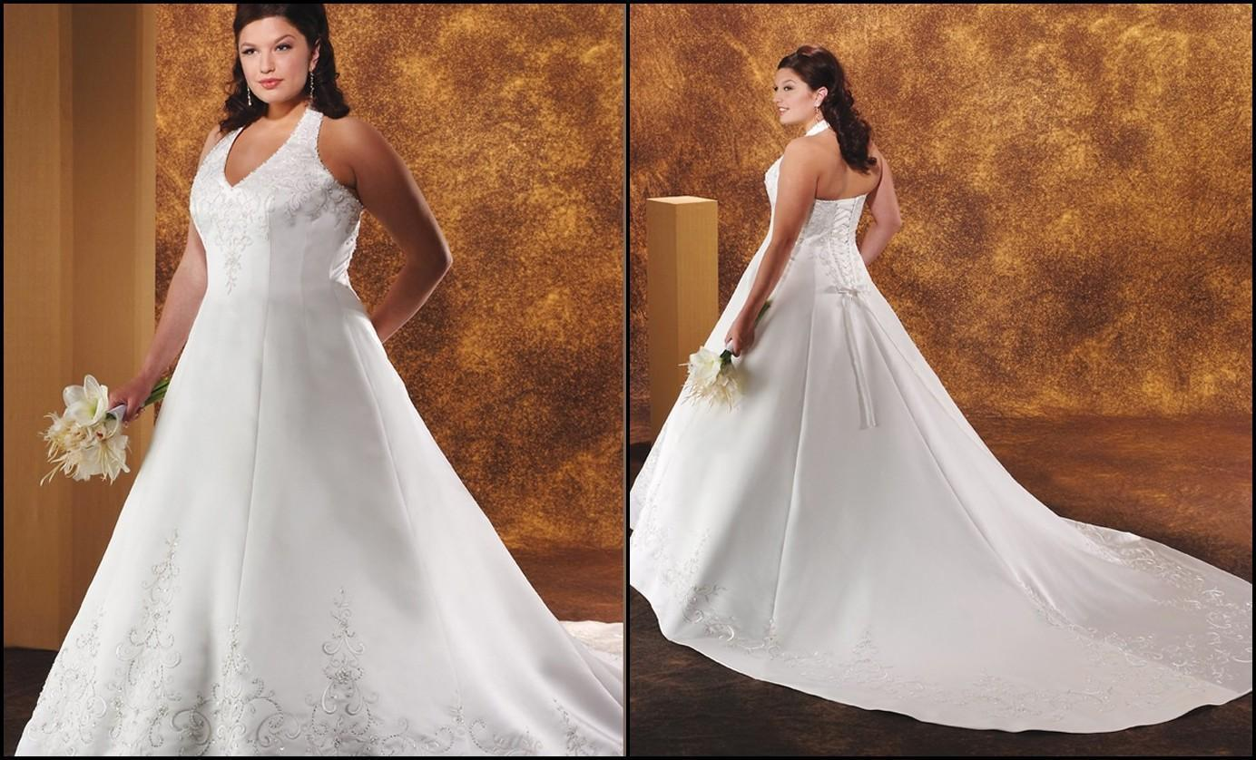 Halter top plus size wedding dresses Clothing for large