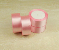polyester satin ribbon - 40mm Soft Pink Color Polyester Satin Ribbon Trim Baby Color Ribbon
