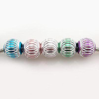 Wholesale x New Alloy Big Hole Mixed Color Spacer Beads Fit Charms Bracelet mm Jewelry