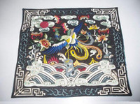 Wholesale Hot Square Placemat Tableware Mat Chinese Ethnic Cotton Embroidery Table Dinner Mat mix Free
