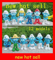 Wholesale New hot The Smurfs Smurfette Smurf papa D PVC toy doll action figure of
