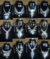 Wholesale Czech rhinestone necklace sets fashion jewelry hot new lady s costume necklace set