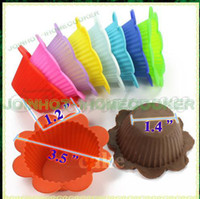 Wholesale Flower Baking Cupcake Muffin Mold Silicone Mould