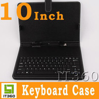 Wholesale 10 Inch USB Leather Keyboard Case For ZT180 Epad Tablet PC It360